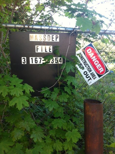 Mass DEP sign