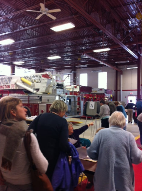 Voting underway at the Great Barrington Fire Station.