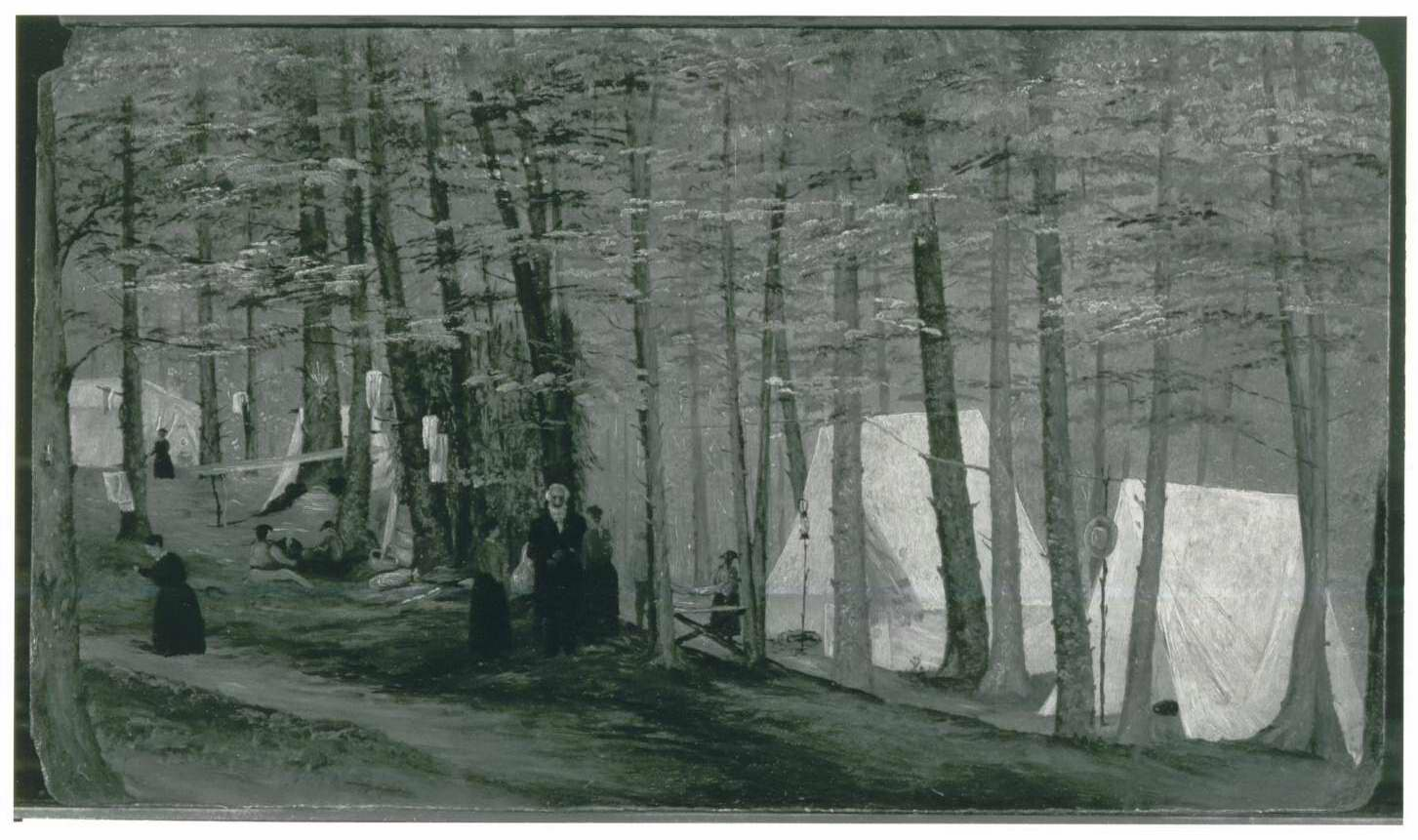 Camp Fern on the slopes of Mount Greylock, circa 1870. Photo courtesy of Williamstown House of Local History