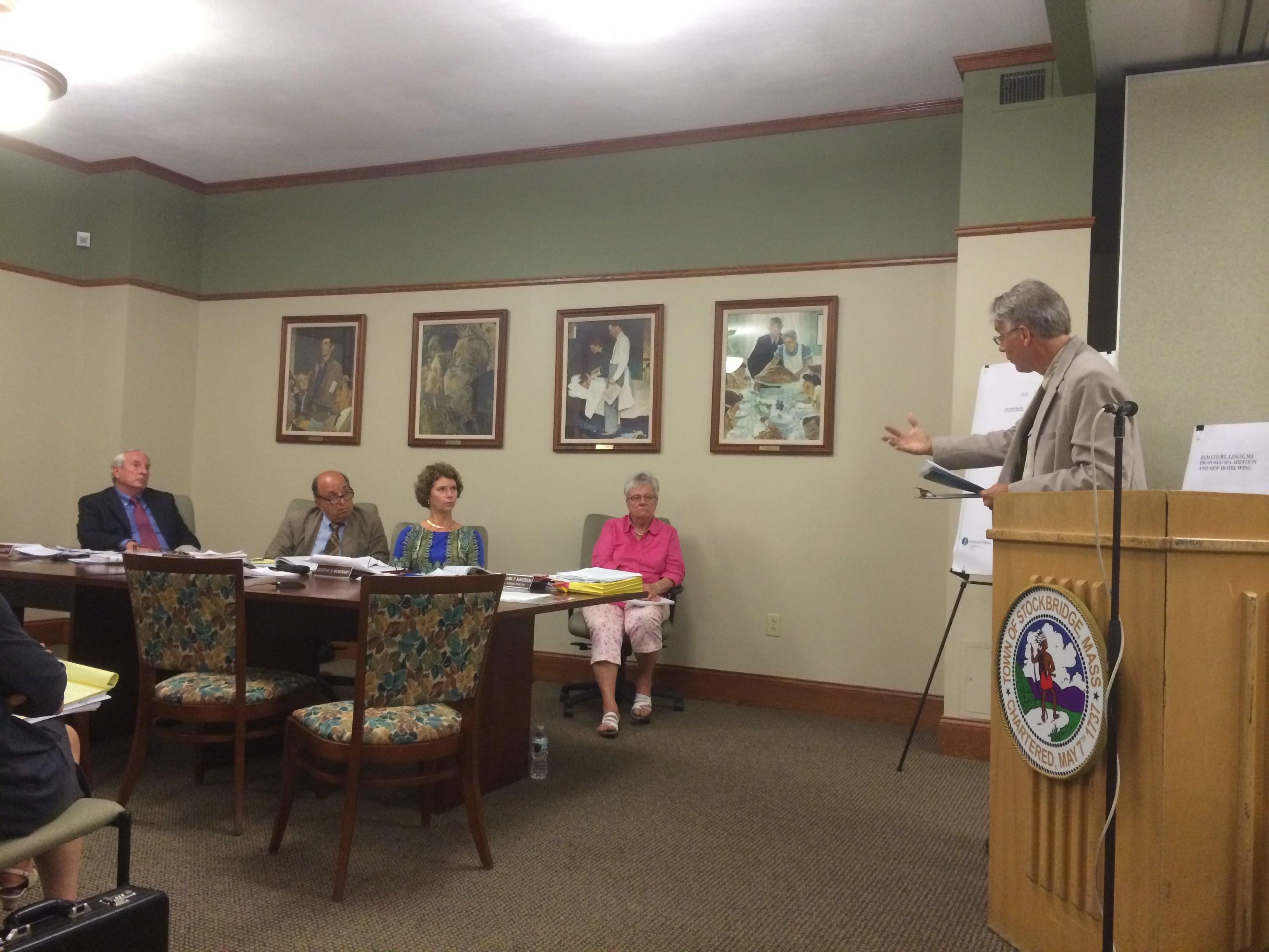Travaasa opponent Gregory Whitehead speaks to Board of Selectmen.