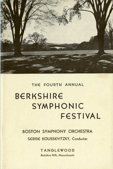 Cover from the 1937 Tanglewood program.