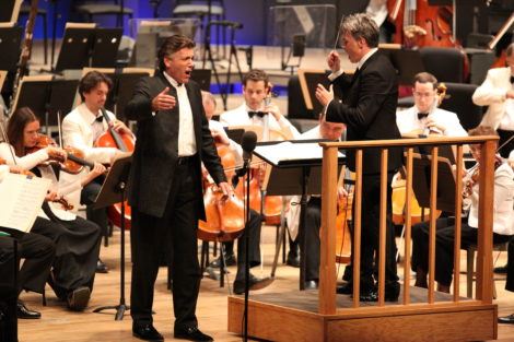 Thomas Hampson and conductor Edward Gardner joined the BSO for selections from Aaron Copland's 'Old American Songs' on Friday evening July 18.