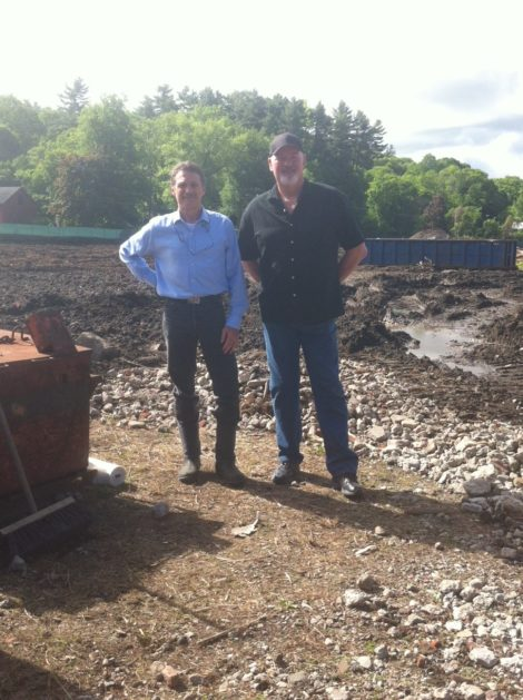 Tim Geller, left, and Chris Young as the site was being prepared.