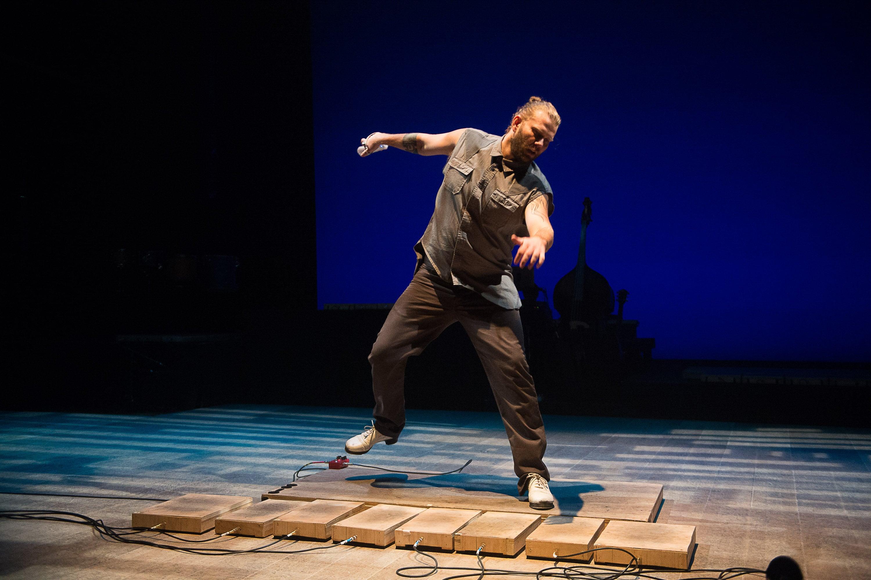 "Nicholas Van Young in ""ETM: The Initial Approach""; photo Christopher Duggan"