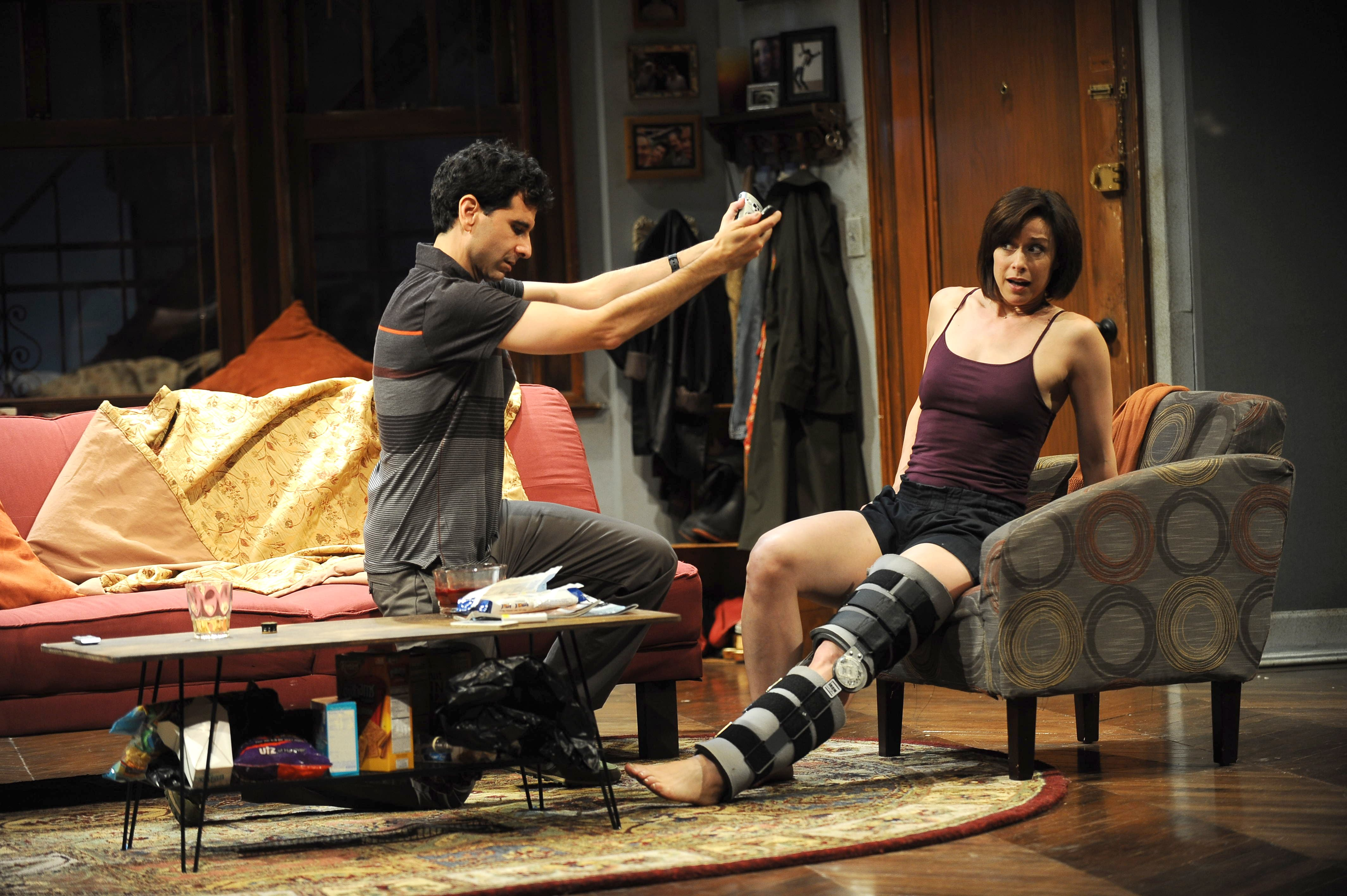 John Cariani as Ever and Paige Davis as Senga in 'Dancing Lessons.' Photo: Kevin Sprague