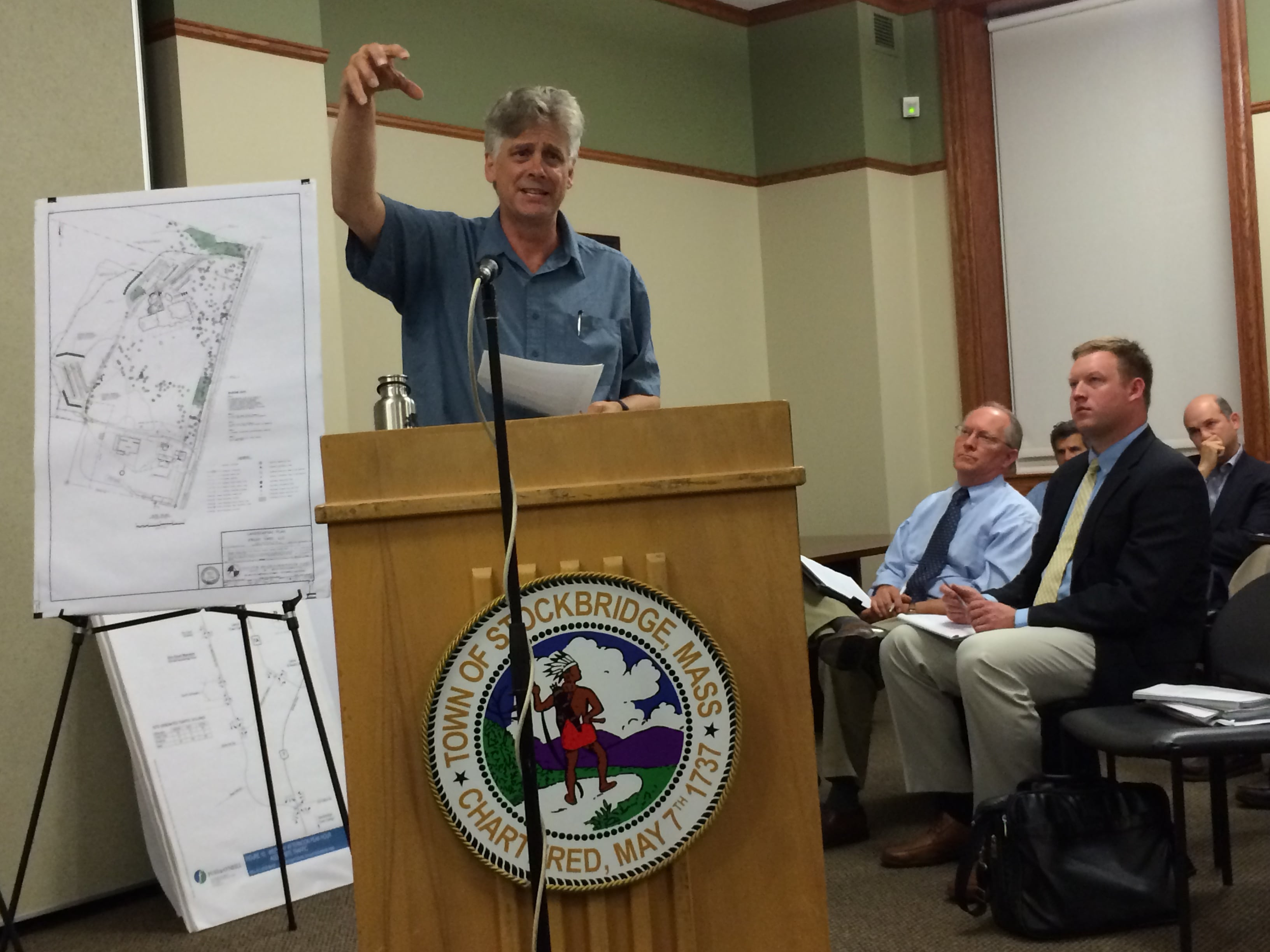 Gregory Whitehead, insisting that lines of sight on hilly Old Stockbridge Road would create hazardous traffic conditions.