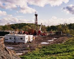 A natural gas drilling site in Pennsylvania.