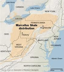 A map of the Marcellus Shale formation .