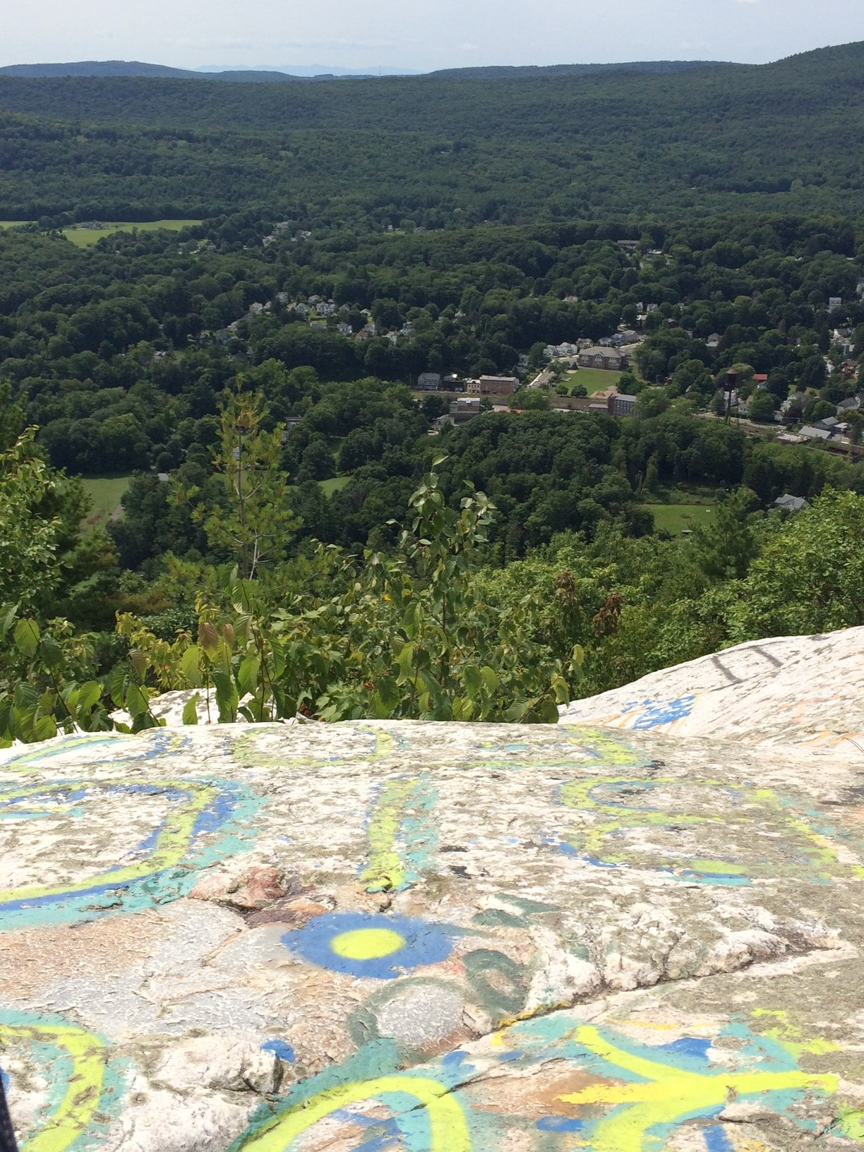 From Flag Rock, the village of Housatonic below. Photo: Heather Bellow