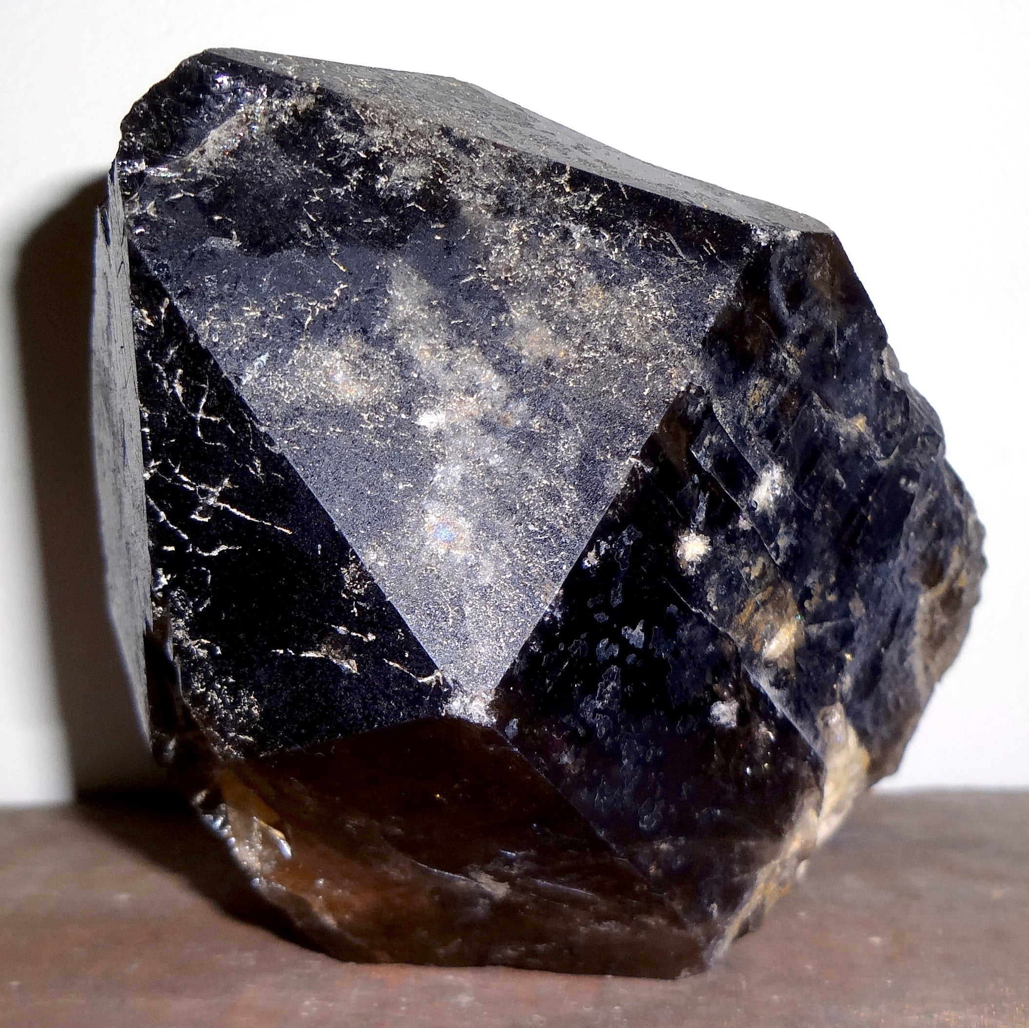 One of the author's treasures: a smoky black crystal.
