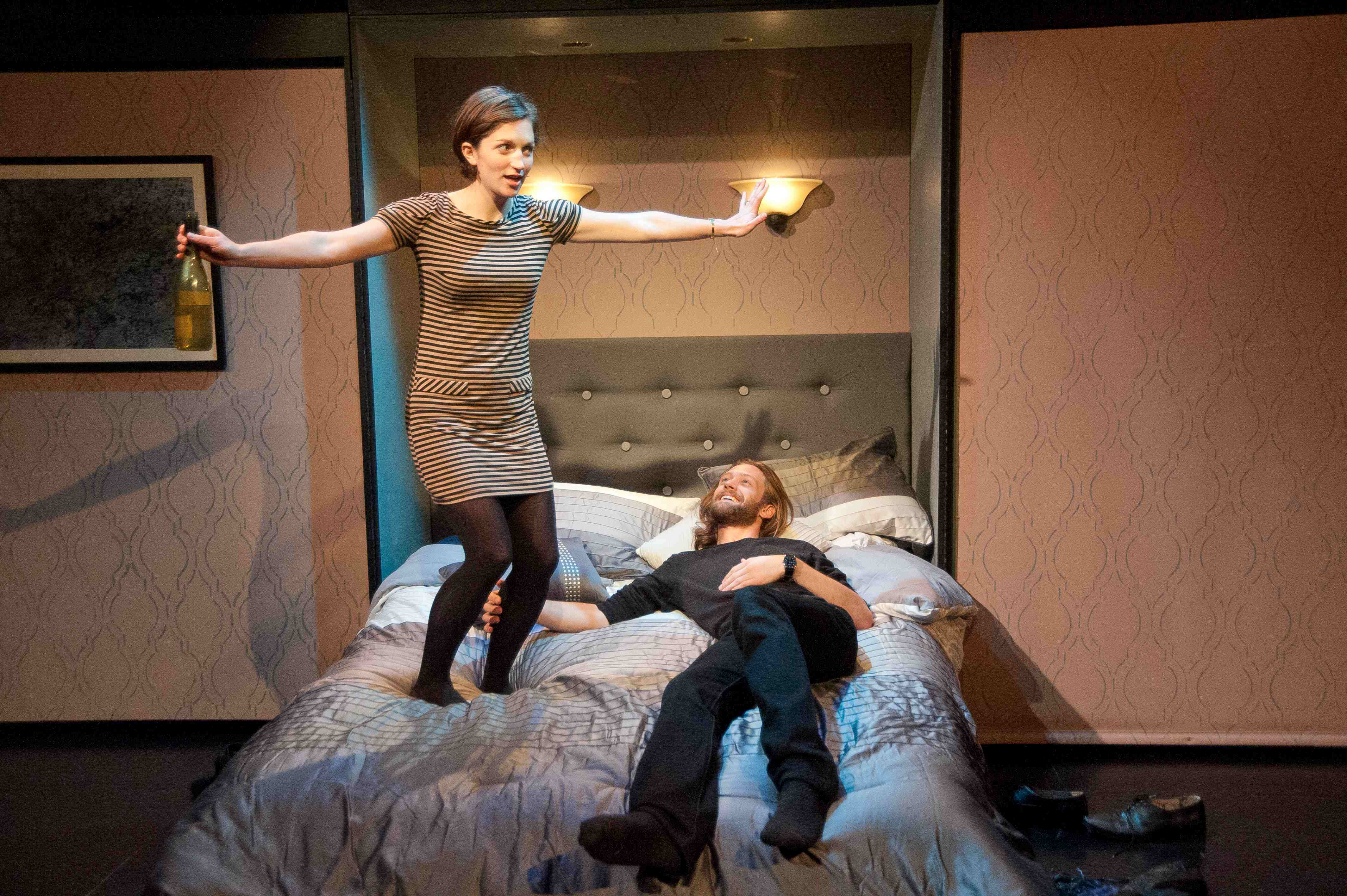 Caroline Calkins and Marcus Kearns, in the play within the play. Photo: Enrico Spada