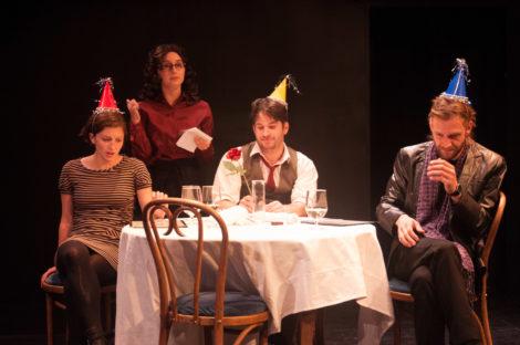 Caroline Calkins, Elizabeth 'Lily' Cardaropoli, Luke Reed and Marcus Kearns. Photo by Enrico Spada
