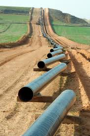A corridor for the natural gas pipeline.
