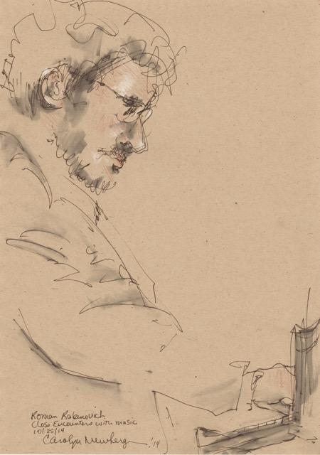 Roman Rabinovich. Illustration by Carolyn Newberger.