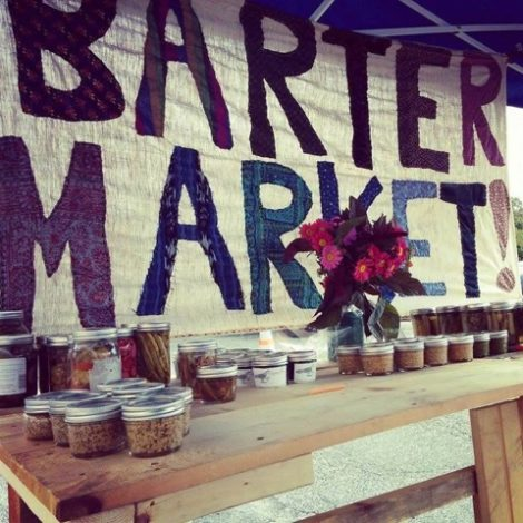 Barter Market, a concept of community sharing. Photo by Michelle Kaplan