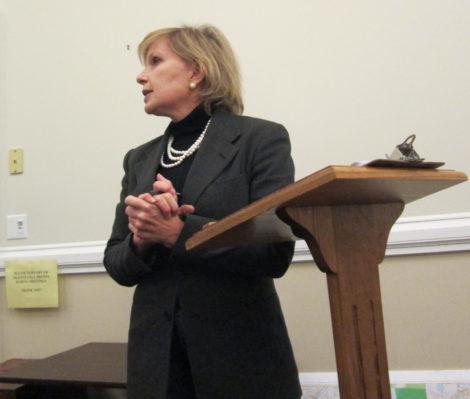 Karen Christensen before the Finance Committee.