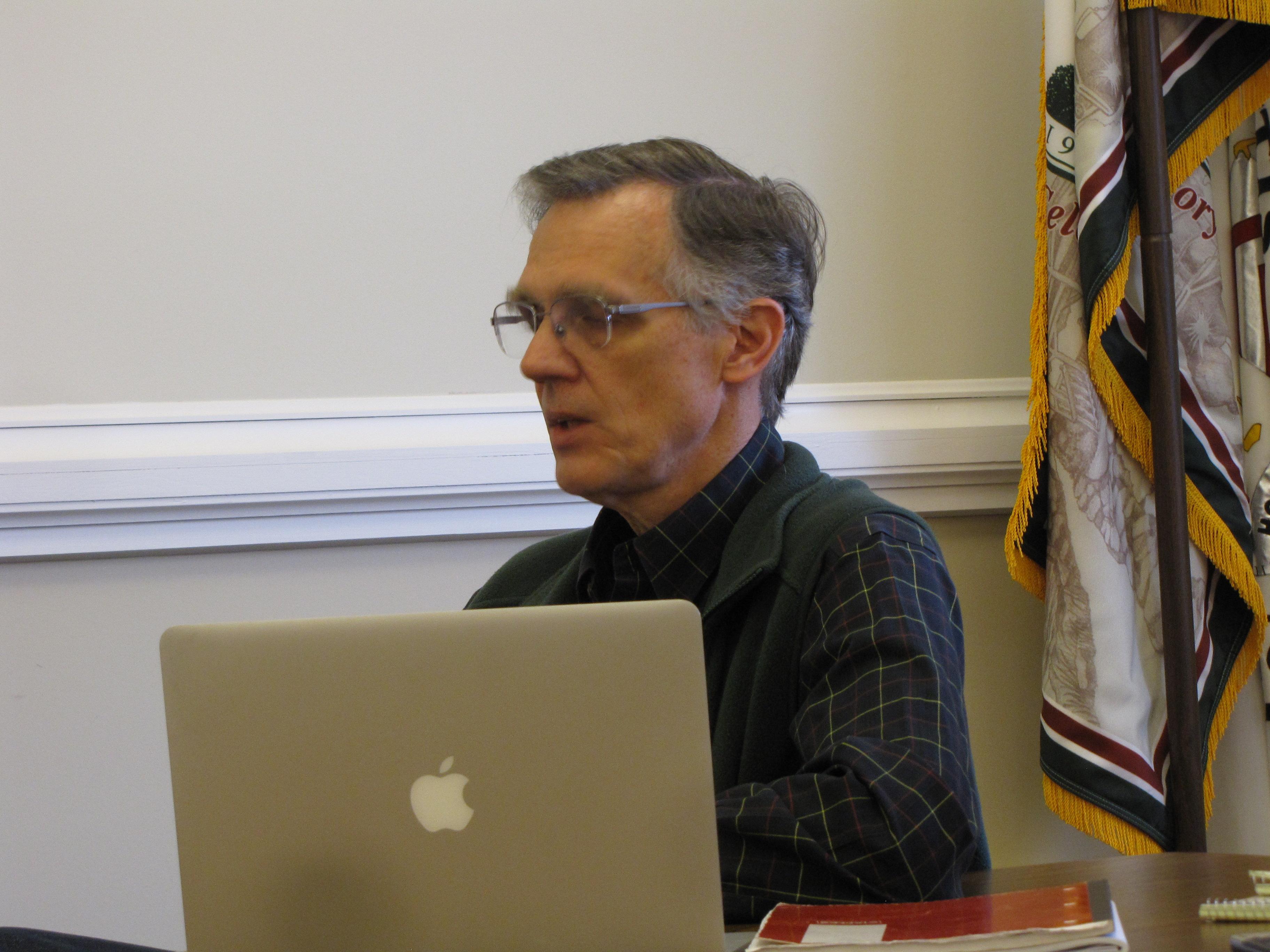 Great Barrington Finance Committee member Michael Wise.