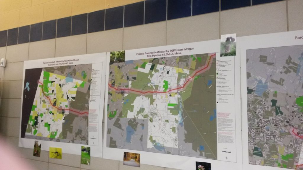 Maps showing the parcels in Richmond and Lenox that would be transected by the Tennessee Gas Pipeline.