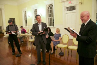 A rehearsal for 'It's a Wonderful Life' at the Sandisfield Art Center.