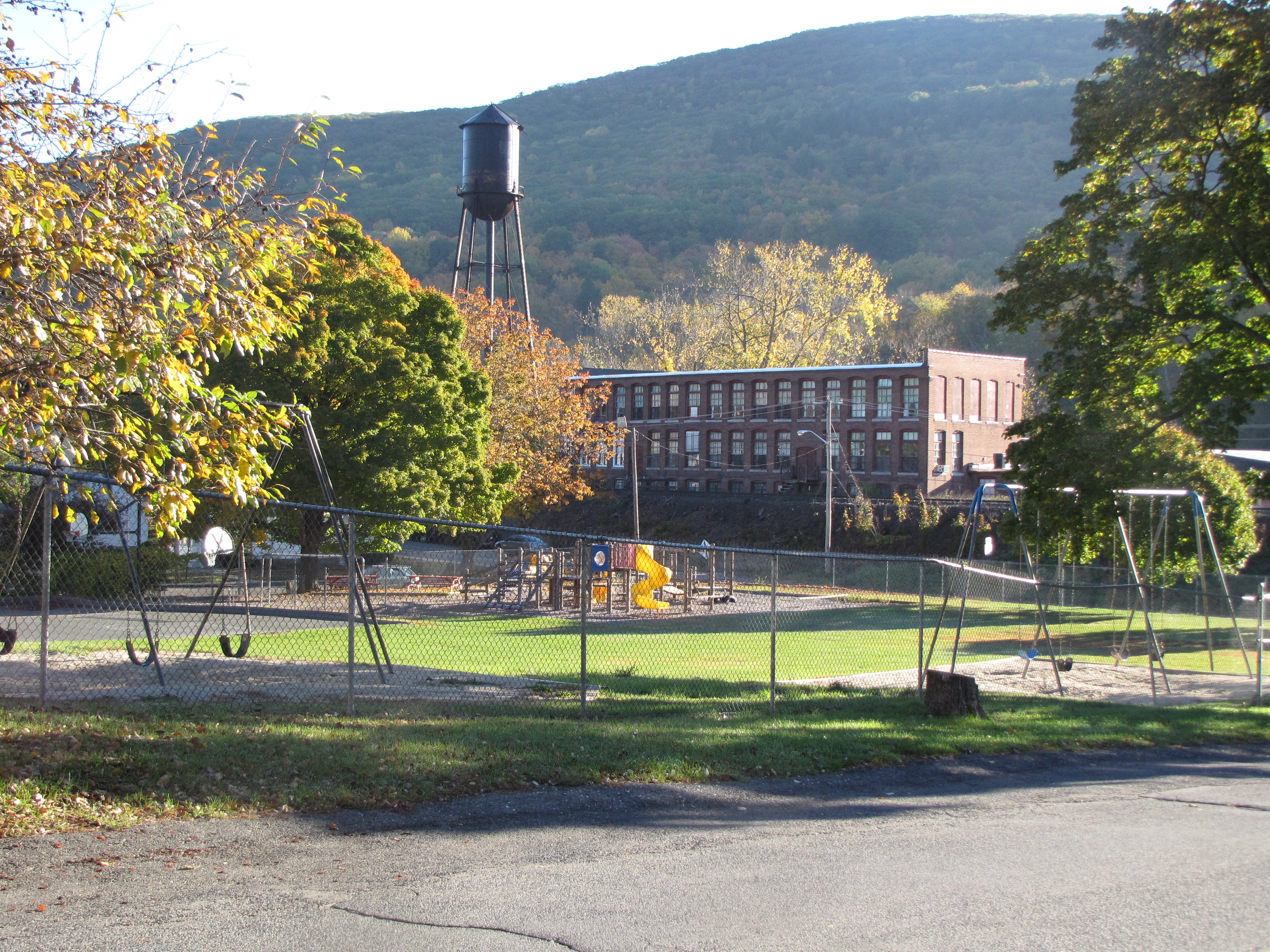 The playground area of the Housatonic School.