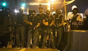 Police in Ferguson, MIssouri.