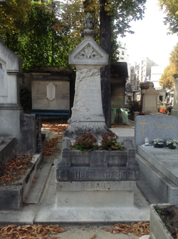 The double grave of Barrault and Renaud. Photo: Joan Schenkar
