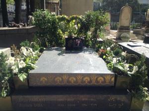 Leila PAHLAVI's grave.Photo:  Joan Schenkar