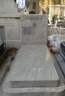 The tomb of Manfred Schapiro. Photo: Joan Schenkar