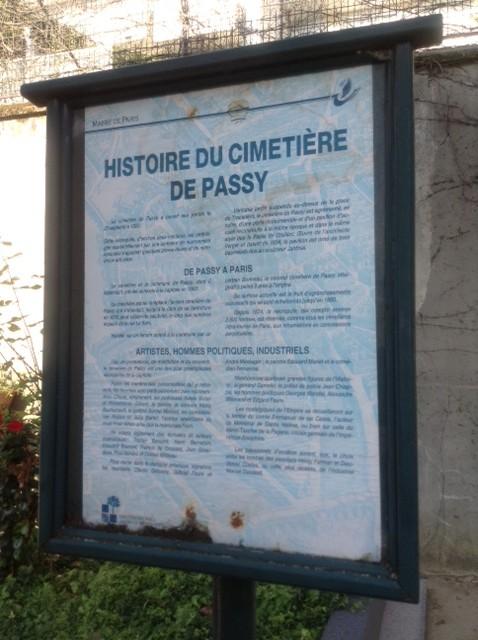 L'histoire de Passy. Photo: Joan Schenkar