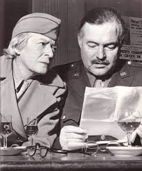 Janet Flanner with Ernest Hemingway.