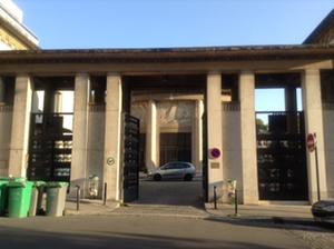 ART DECO GATE and salle d'attente of PASSY. Photo: Joan Schenkar