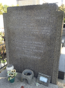 Natalie Barney's American granite. Photo: Joan Schenkar