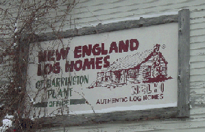 Log Homes sign