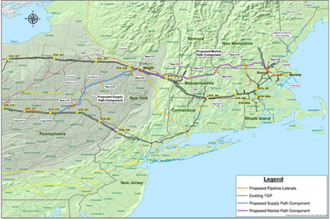 The Northeast Direct pipeline will bring hydro-fractured natural gas from the Marcellus Shale in Pennsylvania to New England -- through western Massachusetts.