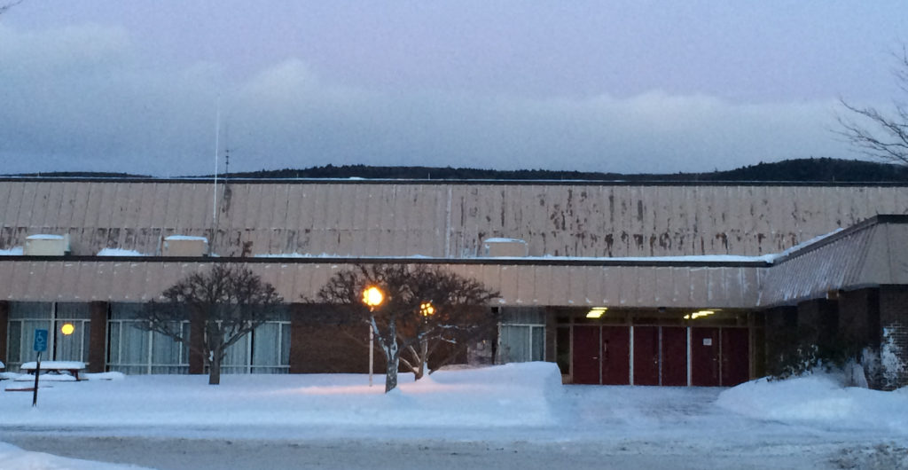 The Monument Mountain Regional High School roof needs replacement at an estimated cost of $8 million. Photo: Heather Bellow