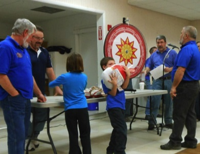 A young winner in the 2014 Kiwanis Ham Roll.