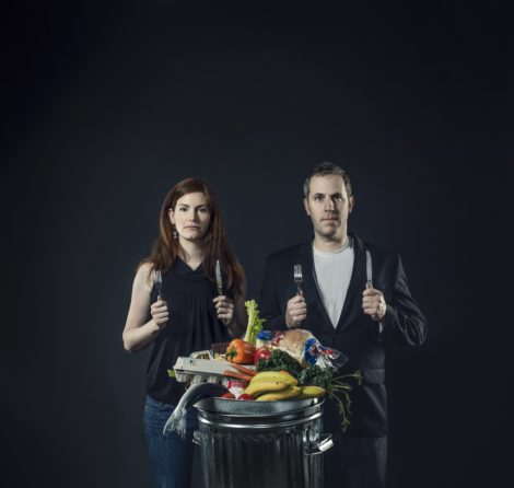"""""""Just Eat It' filmmakers Jen Rustemeyer and Grant Baldwin. The film will be shown at the Mahaiwe Theatre on April 11."""