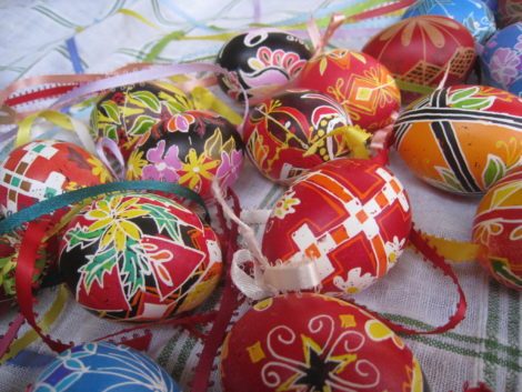 Examples of Slavic decorated Easter eggs.