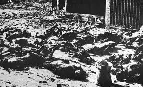 The remains of Dresden inhabitants caught in the 1945 firestorm.