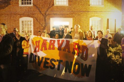 Harvard alumni urged the university to divest of its fossil fuel investments.