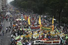The People's Climate March in New York City, September of 2014.
