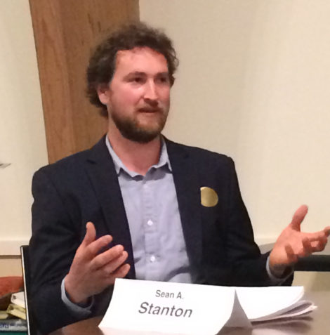 Selectboard candidate and incumbent Sean Stanton at the April 27 Candidates' Forum.