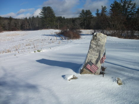 The National Park Service widened the Appalachian Trail corridor in the 1990s, and acquired the Shays' Rebellion battleground from farmer Arthur Delmolino. This is how it looked last winter. Photo courtesy of Bernard Drew