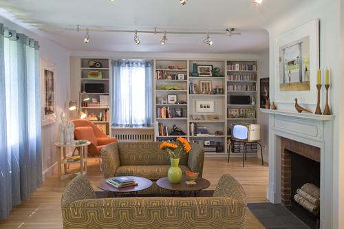 Living room after renovation. Photo: Peter Vanderwarker