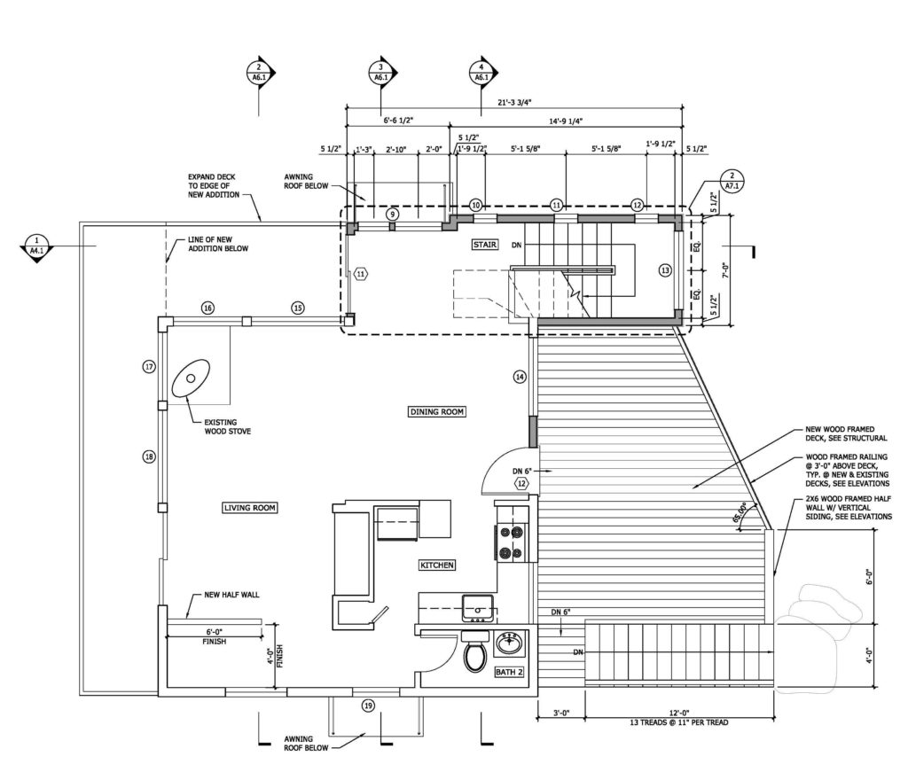 The final plan for the upper floor.