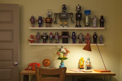 Collection of vintage robots. Photo: Peter Vanderwarker