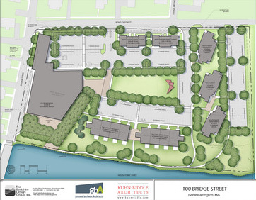 A rendering of the 100 Bridge Street project, with the Berkshire Co-op Market as an anchor tenant.