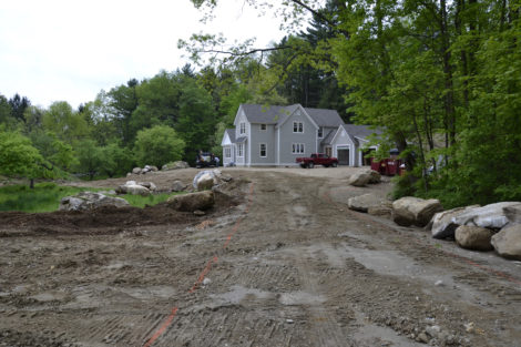Driveway layout with separate boulders and rough grading. Photo: Craig Okerstrom-Lang