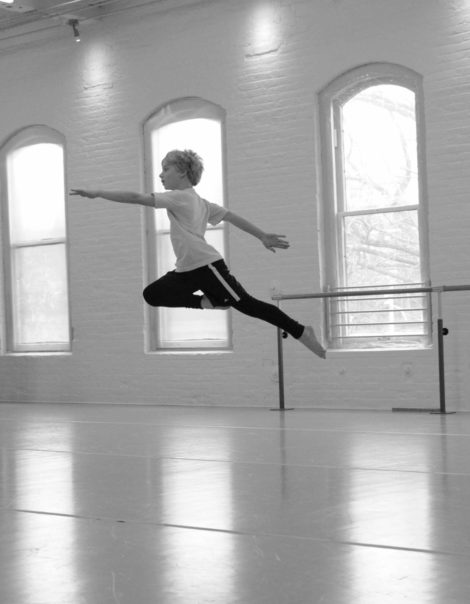 Silas Blacklow, a dancer in the boys program. Photo: Susan Quinn