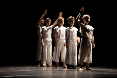A dance for boys that will be performed during the gala weekend at Bard College at Simon's Rock. Photo: Susan Quinn